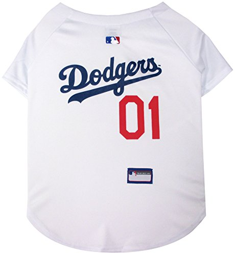 MLB LA Dodgers Dog Jersey, XX-Large. - Pro Team Color Baseball Outfit