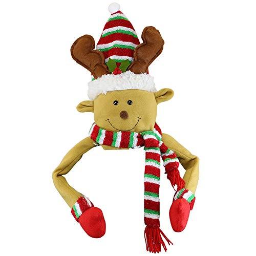 winemana Christmas Tree Top, Reindeer Christmas Tree Hugger, Hollow Christmas Tree Topper Decoration, Christmas Party Supplies (Yellow)