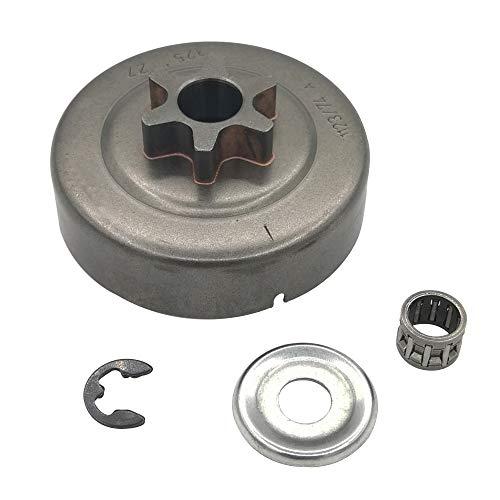 Cancanle 3/8 6 Zähne Kupplung Schlagzeug Kettenrad Scheibe E-Clip für STIHL Motorsäge 017 018 021 023 025 MS170 MS180 MS210 MS230 MS250 Ersatz Nr. 1123 640 2003