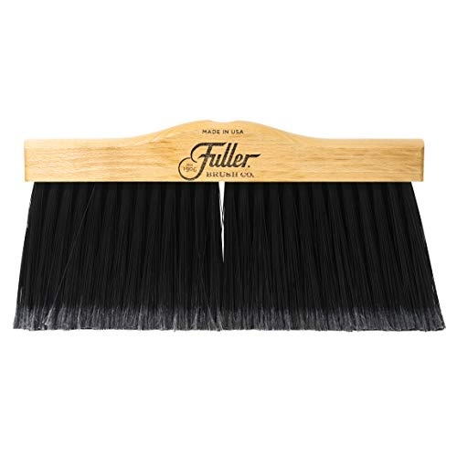 Fuller Brush Indoor/Outdoor Broom Head - Heavy Duty Wide Wooden Sweeper w/Long Bristles - Commercial Floor Brush for Salon, Shop, Kitchen & Garage - 12-inch Wide