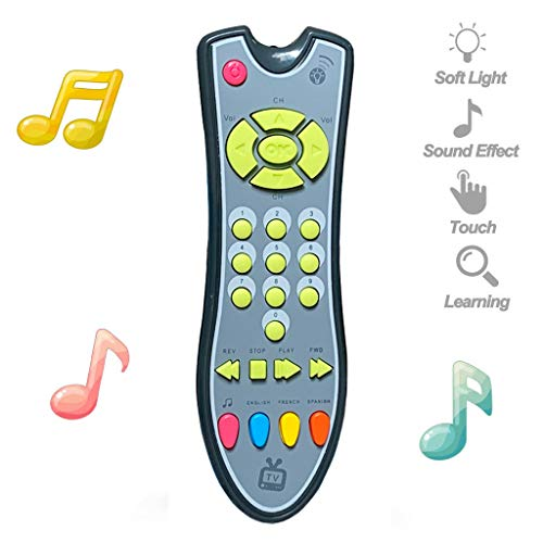 Lowest Price! Musical Remote Control Toy with Light & Sound, 3 Different Language Education Learning...
