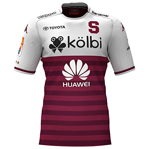 Saprissa - Home Traditional Costa Rica Team Soccer Jersey - 2019 Kappa Original Men and Youth Equipment (Small, Away) White