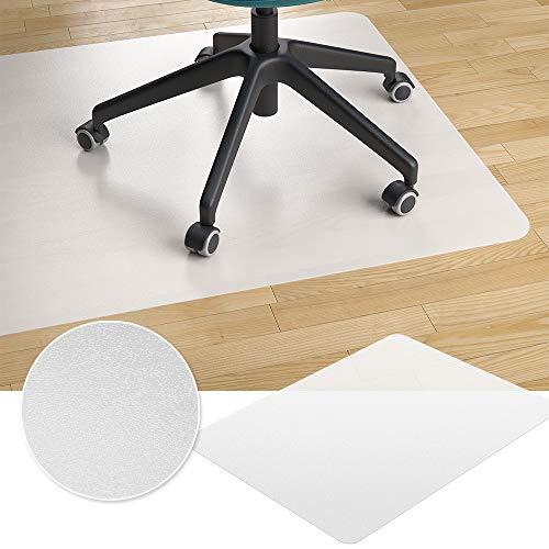 Vicco Bodenschutzmatte Bürostuhlunterlage Bodenmatte Stuhlunterlage weiß (90 x 120 cm)