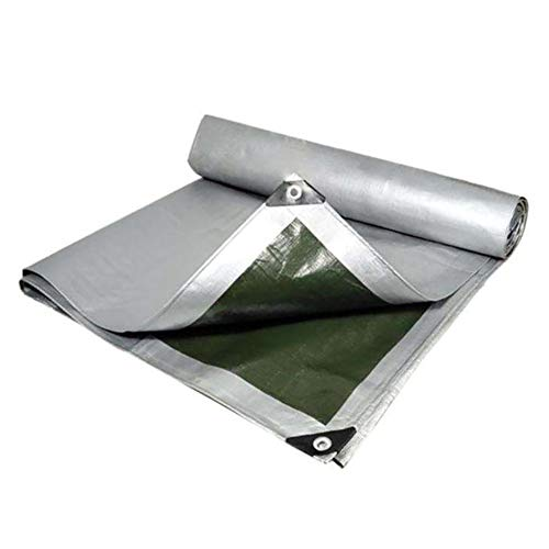 N / A Tarps Waterproof Pergola Tarp, Reinforced Roof Tarpaulin with Grommets, 160g Lightweight Anti-UV Pool Cover for Outdoor Camping Plant(Size:4×10m)