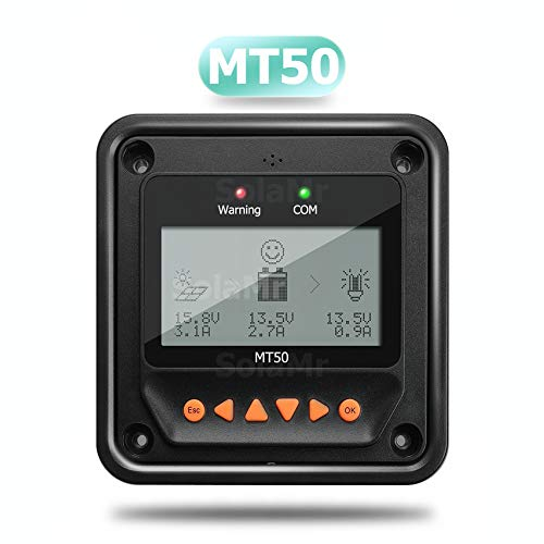 EPEVER® MT50 Remote Meter, LCD-Display Remote Meter für Solarladeregler für Tracer-AN-Serie, Tracer-BN-Serie, LandStar-B-Serie, ViewStar-BN-Serie - MT50
