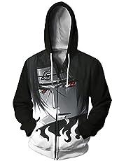 Anime Naruto Cosplay Hoodie met rits Uchiha Itachi Lange Mouw Cardigan Kakashi Sweatshirt Uchiha Sasuke Hoodie