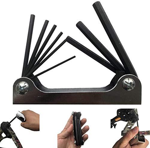 Bonne anti-corrosion et anti-rouille Werkzeuge for Home Nützliche Kits 9-in-1 Folding Aluminiumlegierung Kombination Inbusschlüssel Inbusschlüssel Fahrrad dureté élevée, un couple élevé