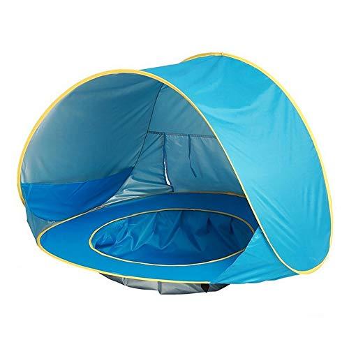 HXiaDyG koepeltent camping luifel outdoor camping zonnescherm baby-strandtent UV-bescherming zonneshelter met zwembad waterdicht pop-up