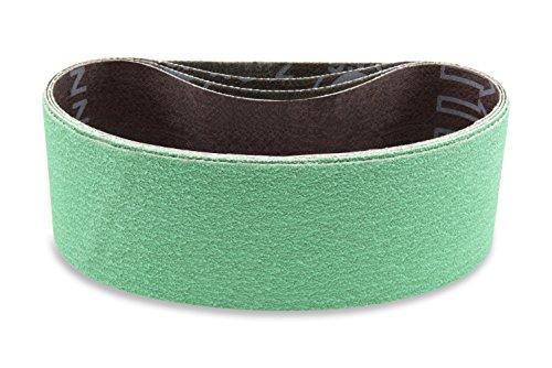 Red Label Abrasives 2 X 72 Inch 40, 60, 80 Grit Premium Lawn Mower Blade Sharpening Sanding Belt Kit, 6 Pack Assortment