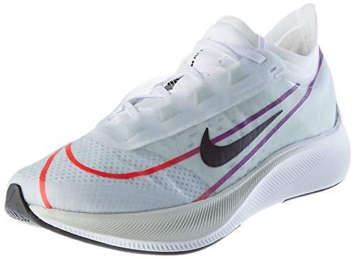 Nike Women's Wmns Zoom Fly 3 Running Shoe,White/Black-Hyper Violet-Flash Crimson-Hyper Jade-Racer Blue,36 EU,3 UK