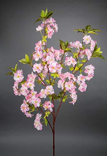 Kirschblütenzweig 105cm rosa ZF Kunstblumen Seidenblumen künstliche Kirschblüten Zweige Blumen