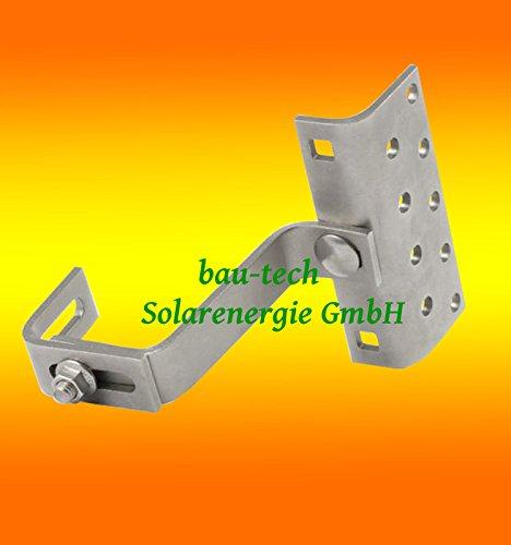 10 Stück Dachhaken A2 3 fach verstellbar für Dachpfannen Solar PV Photovoltaik Montage von bau-tech Solarenergie GmbH