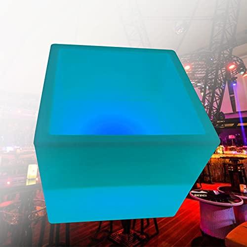 Cubitera de hielo con luz LED, barril de cerveza y bebidas, lámpara gradiente multicolor, enfriador de botellas, para bar, bar, bar, bar, música, barbacoa, actividad, fiesta