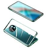 Redmi Note 9T ケース/カバー アルミバンパー クリア 透明 前後強化ガラス かっこいい シャオミ 小米 リドミーノート9T アルミサイドバンパー おしゃれ アンドロイド スマフォ スマホ スマートフォン シンプル ケース/カバー(グリーン)