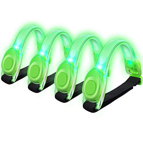 Alviller LED Armbänder, Reflective 4 Stuck LED Armband Leuchtband Kinder Nacht Sicherheits Licht...