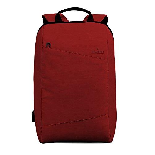 Puro Zaino Byday per MacBook Pro 15' e Notebook da 15.6', Rosso
