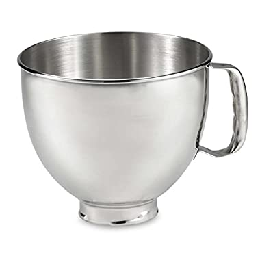 New K5thsbp Kitchenaid Stainless Steel Bowl w/ Handle Fits 5 Quart Stand Mixers Fast Shipping By Fedex