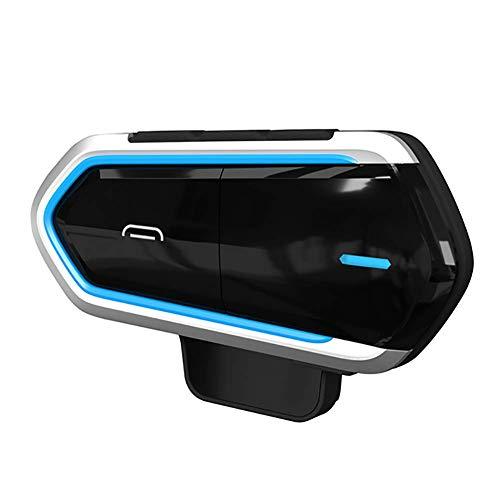 Auriculares Bluetooth para Motocicleta Intercomunicador Casco Moto, Montar a Caballo Esquí Deportes Aire Libre (600m/ 3 Jinete/Bluetooth 3.0/ Manos Libres/Radio FM/Impermeabilidad)
