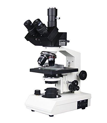 Radical 40–1500x trinocular profesional de alta potencia médico veterinario Biología Microscopio w 3d Stage Abbe condensador variable iluminación halógena Semi Plan objetivos diapositivas