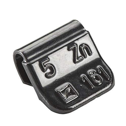 Hofmann Power Weight 100x Poids Marteau Noirs pour Jante en Acier 5g   Poids d'équilibrage Noirs   Poids d'équilibrage Jante en Acier Changement de pneus Voiture