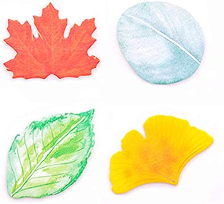 ERCENTURY Creative Sticky Notes in 4 Leaf Shaped Designs 30 Sheets per Shape 120 Sheets in Total product image