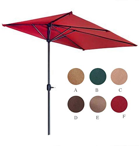 Garden Parasols Parasol 2.3 * 1.2m, Beach Umbrella, Sun Protection, Polyester Canopy, Fibreglass Ribs, Carry Bag, for Garden Balcony Pool (Color : C, Size : With base)