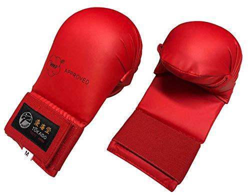 Tokaido Faustschutz WKF rot blau Karate-Faustschützer für Training und Wettkampf (rot, M)