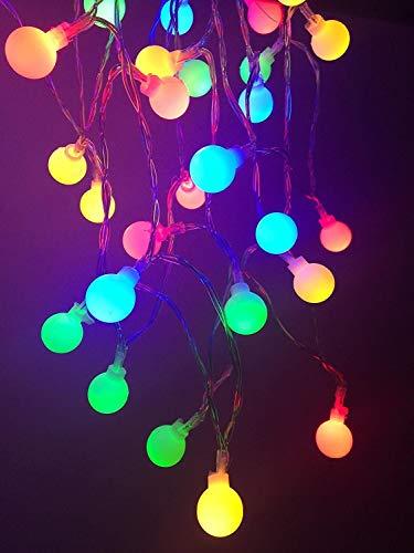 Ff Led-Lichterketten 50 Led-Globus Batteriebetriebene Weihnachtsbaumfee Innenlichterketten, Dupad Story 16Ft Länge Dekorative Beleuchtung Für Gartenhaus Hochzeitsfeier Schlafzimmer Innen-Außenbereich