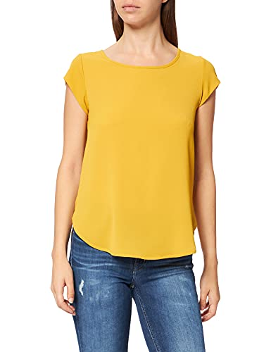 Only Onlvic S/S Solid Top Noos Wvn Camiseta, Tawny Olive, 40 para Mujer
