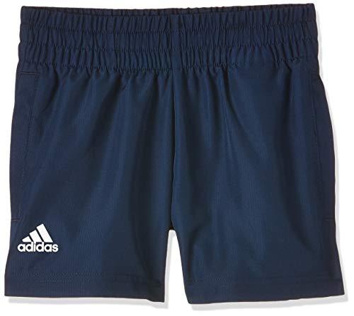 adidas B Club Shorts für Kinder, Maruni/Weiß, 140 (9/10 Jahre)