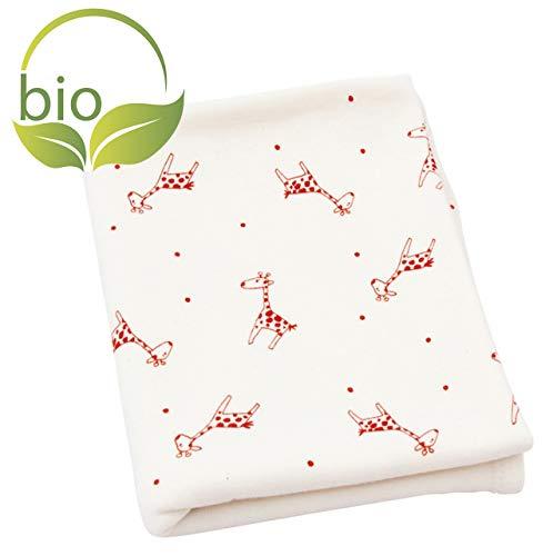 ByBoom - BIO Babydecke, Kuscheldecke, Erstlingsdecke, Sommerdecke aus 100% Bio Baumwolle mit Motiv, 70x100 cm; MADE IN EU, Farbe:Natur - Giraffe