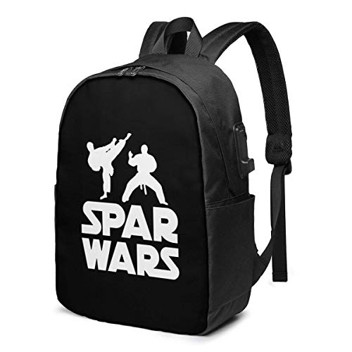 AOOEDM Laptop Backpack Spar Wars Water Resistant College School Bag with USB Charging Port