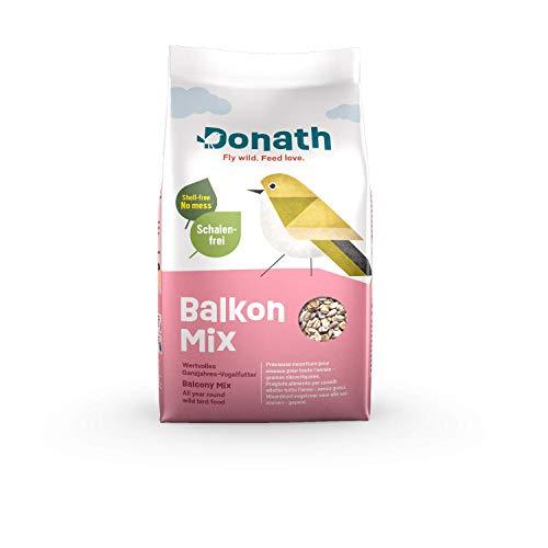 Donath Balkon Mix - schalenfreie Mischung für einen sauberen Balkon - wertvolles Ganzjahres Wildvogelfutter - aus unserer Manufaktur in Süddeutschland