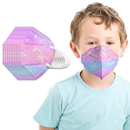 Unisex Niños Desechables Infantil de Filtro de Elásticos Bufanda Moda Universal 5 Capa Elástico Earloop Neckerchief Chal Bandanas para 2-10 años