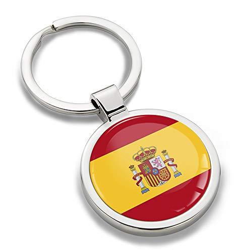 Biomar Labs sleutelhanger metaal sleutelring autosleutel geschenk metalen sleutelhanger sleutelhanger roestvrij staal Spanje spa vlag KK 191