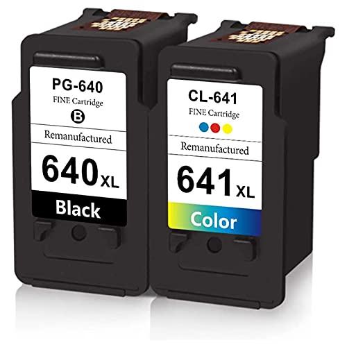DLKJ 640 641 XL Cartucho de Tinta Compatible para Canon PG-640XL CL-641XL, se Adapta a PIXMA MG2160 MG3160 MG4160 MX436 MX536 TS5160 (Paquete de 2)