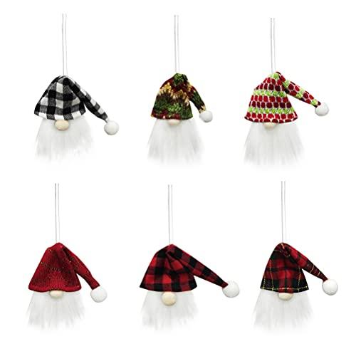 STOBOK 6 Unidades Mini Cubierta de La Botella de Vino de Los Gnomos de Navidad Cubierta Decorativa de La Botella de Vino de Tomte Sueco para Decoraciones de Navidad (Estilo Surtido)