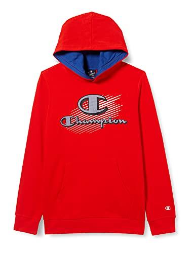Champion Seasonal Graphic Shop Comics Hooded Sweatshirt Felpa con Cappuccio, Rosso, 9-10 Anni Bambina
