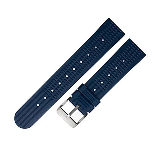 MVPACKEEY Correa de repuesto de la correa de reloj Deportes Casual Pulsera de silicona suave para Seiko (azul 22mm)