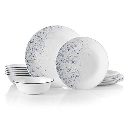 Corelle 18-Piece Service for 6, Chip Resistant, Indigo Speckle Dinnerware Set