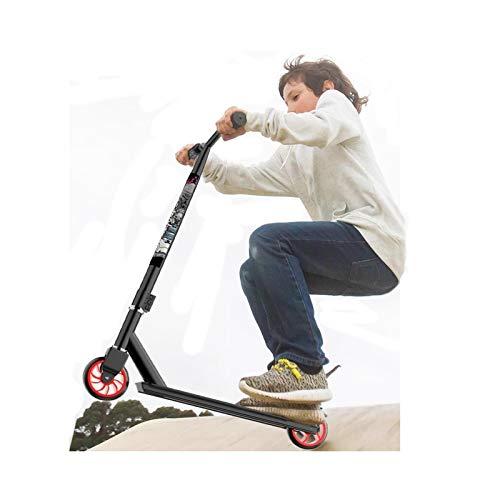 Patinetes clásicos Scooter de Acrobacias para Niños de 8 Años en Adelante, Skatepark Freestyle Patinete Scooter con Plataforma Texturizada Antideslizante, Ciclistas de Nivel de Entrada Scooter