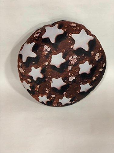 Pillow Cuscino Personalizzato Forma Biscotto Pan di Stelle - Maxi Formato - Forma Sagomata - Prodotto Artigianale - Idea Regalo