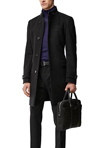 Hugo Boss Men's Virgin Wool Cashmere Coat | Sintrax (Black, 40R)