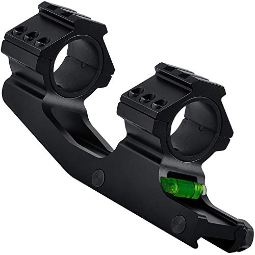 Lasdoloda Offset Cantilever Rifle Scope Mounts with Bubble Level Fits 1 inch / 30mm Tube, Profile Scope Mount Rings for Precision Shooting Competition and Hunting   20mm Picatinny