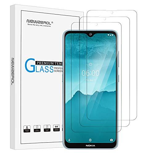 NEWZEROL 3 Packs Kompatibel für Nokia 6.2/7.2 Bildschirmschutzfolie Kleinere Größe Nicht vollständige Abdeckung 2.5D Arc Edges 9 Festigkeit Hochauflösende Hartglas-Bildschirmschutzfolie