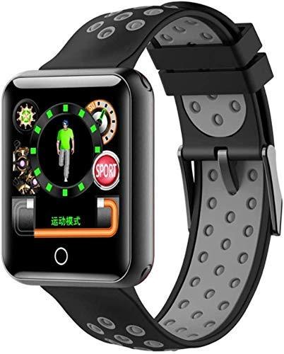 ZHENAO Rastreador de Fitness Pulsera Inteligente Q18 / Ritmo Cardíaco Monitoreo de Presión Arterial Pulsera Inteligente 1.54 Pulgadas Pantalla de Color Grande Ip68 Reloj Deportivo I