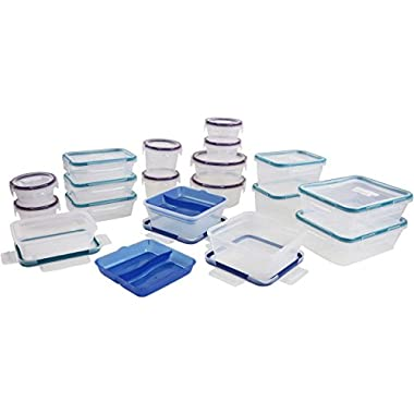 Snapware Plastic Food Storage Set, 38 Pieces