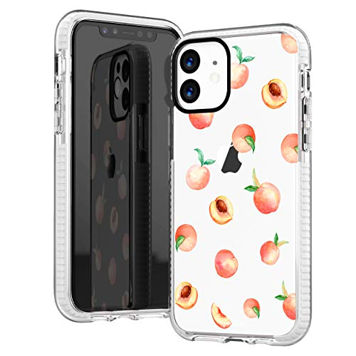 iPhone 11 Case,Girls Women Cute Pink Peach Funny Fruits Series Hipster Love Aloha Summer Tropical Hawaii Beach Sassy Trendy Teengirls Soft Protective Clear Case with Design Compatible for iPhone 11