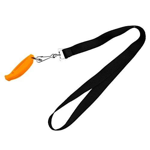Homyl Sifflet de Sécurité avec Cordon/Sifflet d'urgence/Sifflet de Plongée Camping Randonnée Sports - Orange, comme Décrit
