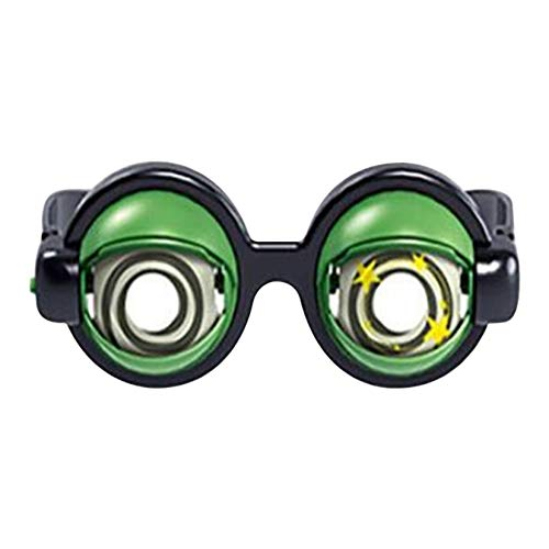 Gafas divertidas gafas de ojo loco, especificaciones divertidas, gafas de broma magnificar tus ojos Bug Eye Specs Funny Children Toys Plastic Glasses Creative Funny Bromas Gafas